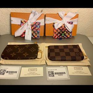 🆕 Louis Vuitton Key Pouch Set